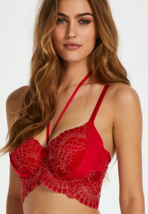 Underwired bra - red