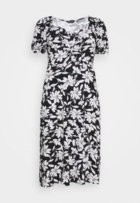 Dorothy Perkins Curve - CURVE RUCHED FLORAL MIDI - Vestido informal - multi coloured