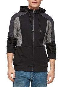 Q/S designed by - Zip-up sweatshirt - black - 6