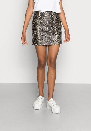 ONLKAFIR - Mini skirt - silver lining/tarmac/black