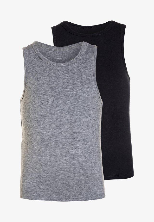 NMMTANK 2 PACK - Unterhemd/-shirt - grey melange