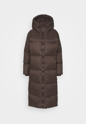 Kabát zprachového peří - brown