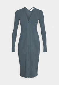 Proenza Schouler White Label - ZIP CARDIGAN DRESS - Strickkleid - petrol - 4