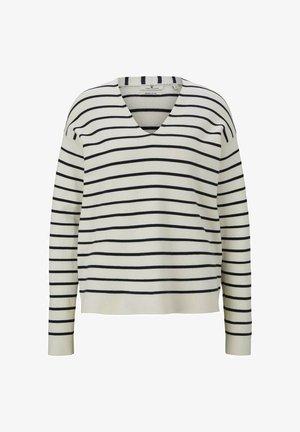 Jersey de punto - offwhite navy stripe
