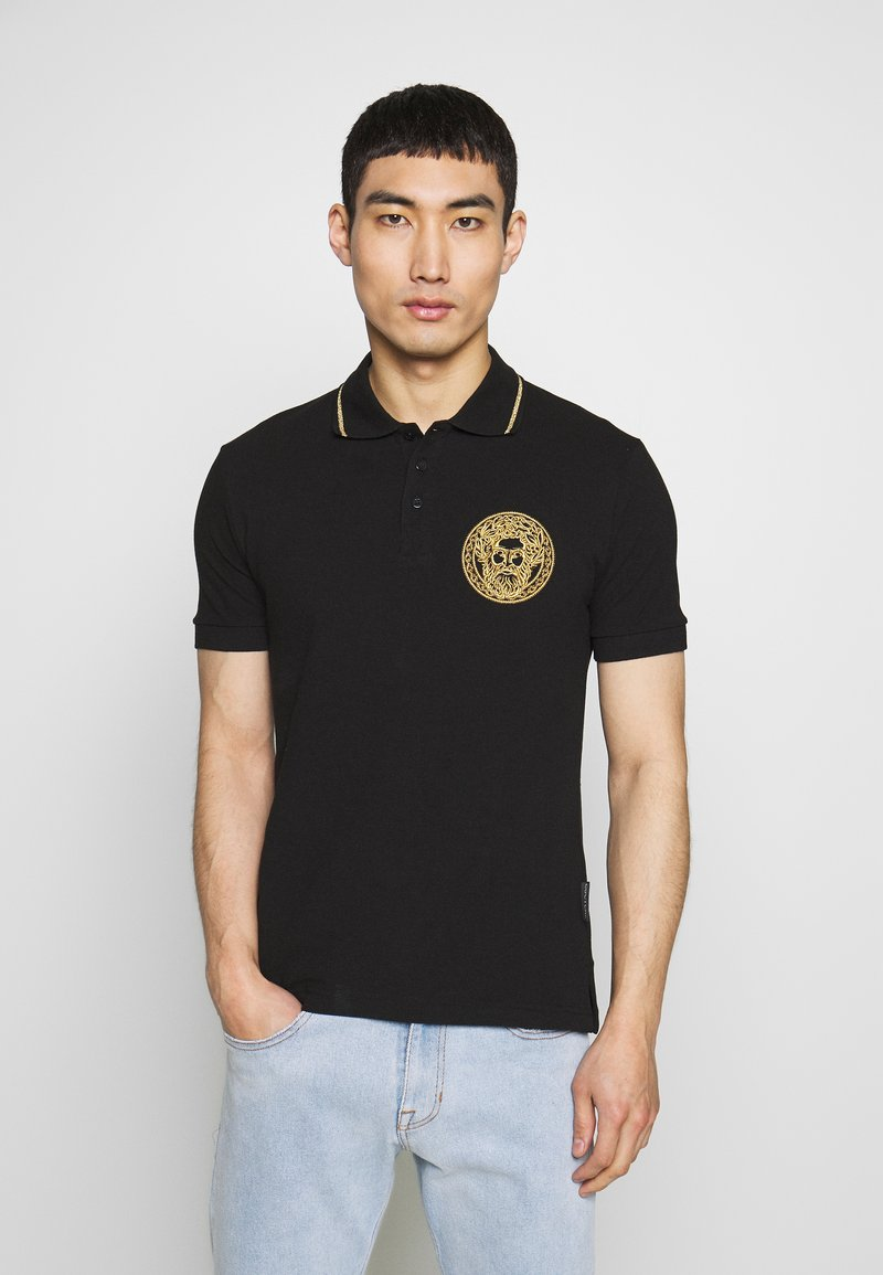 Versace Jeans Couture - EMBROIDERY POLO - Poloshirt - black