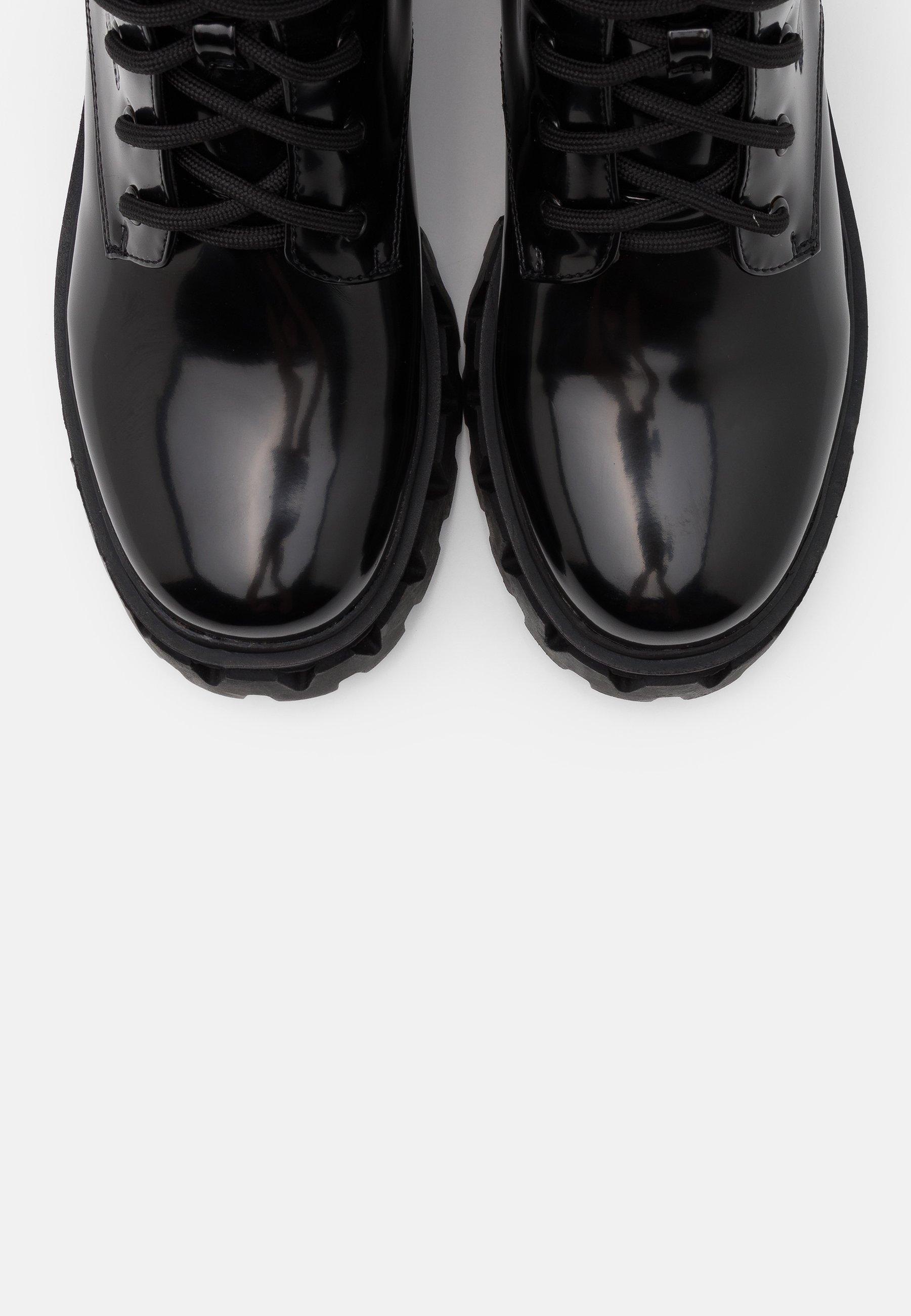 Koi Footwear Vegan Trinity - Plateaustiefel Black/schwarz