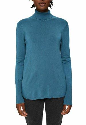 BASIC ROLLKRAGEN  LENZING ECOVERO - Sweatshirt - petrol blue