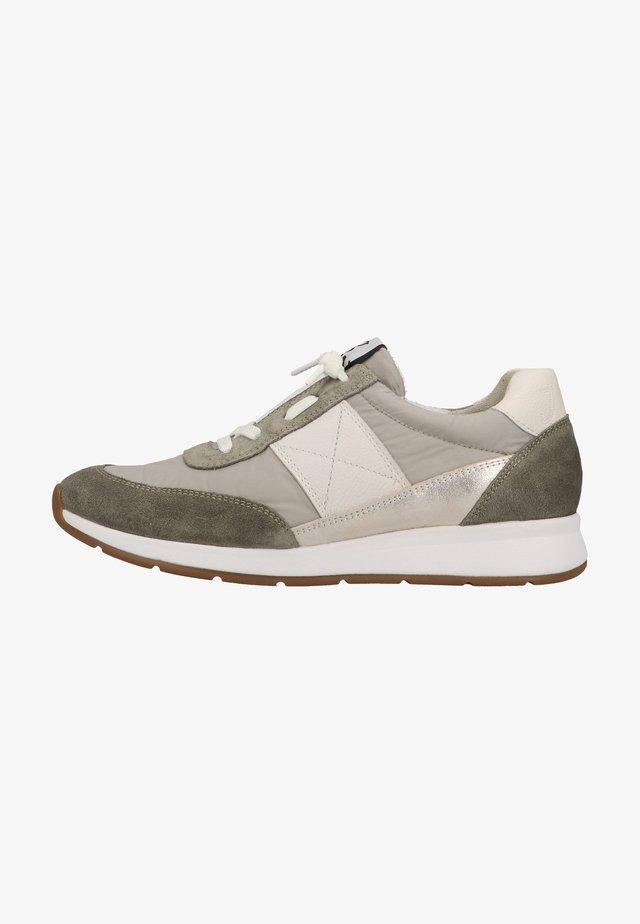 Sneakers laag - helles oliv/hellgrau