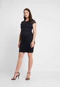 Envie de Fraise - ETOILE MATERNITY DRESS - Shift dress - navy blue - 2