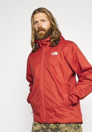 MENS QUEST JACKET - Hardshellová bunda - sunbaked red dark heather