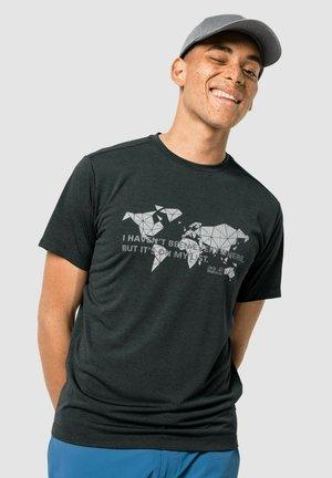 Print T-shirt - phantom