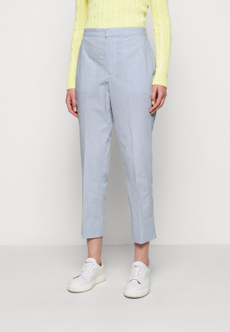 Polo Ralph Lauren - SEERSUCKER - Trousers - blue/white