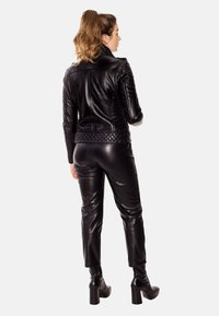 LEATHER HYPE - ALEX PERFECTO - Leather jacket - black with light silver accessories - 2