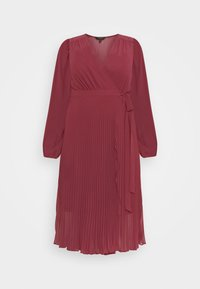 PENELOPE PLEATED WRAP DRESS - Day dress - winter berry