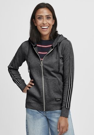 GABBY - Zip-up hoodie - dark grey melange