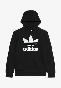 adidas Originals - TREFOIL HOODIE UNISEX - Hoodie - black/white - 3