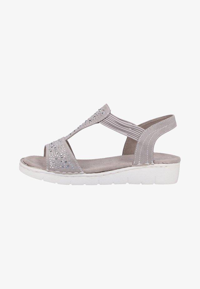 Wedge sandals - grey