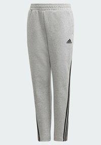 adidas Performance - 3-STREIFEN DOUBLEKNIT TAPERED LEG HOSE - Trousers - grey - 2