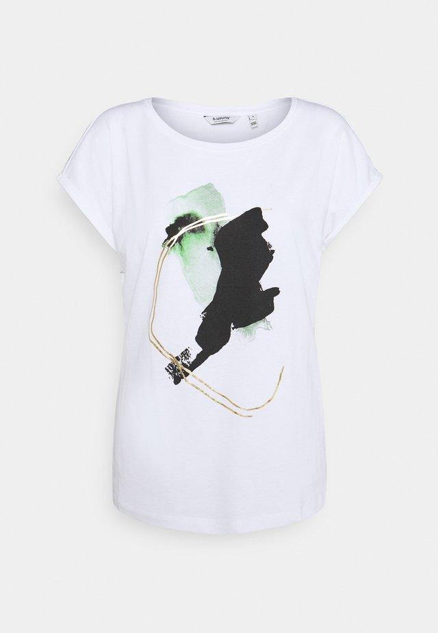 BYSANLA BATH - T-shirt print - offwhite