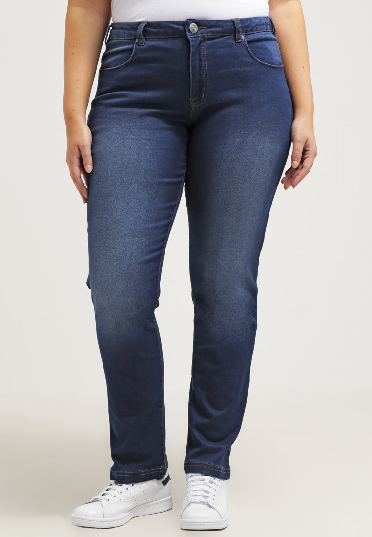 Zizzi - EMILY - Jeans slim fit - blue denim