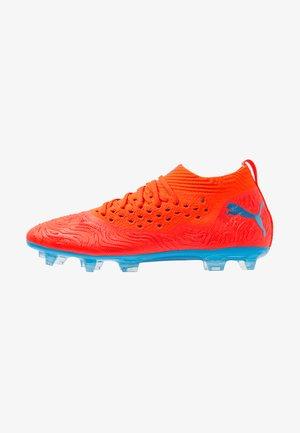 FUTURE 19.2 NETFIT FG/AG - Moulded stud football boots - red blast/bleu azur