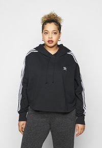 adidas Originals - CROPPED HOOD - Hoodie - black - 0