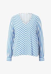 TOM TAILOR DENIM - Blouse - mid blue white stripe - 4