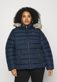 Tommy Jeans Curve - ESSENTIAL HOODED JACKET - Winter jacket - twilight navy - 0