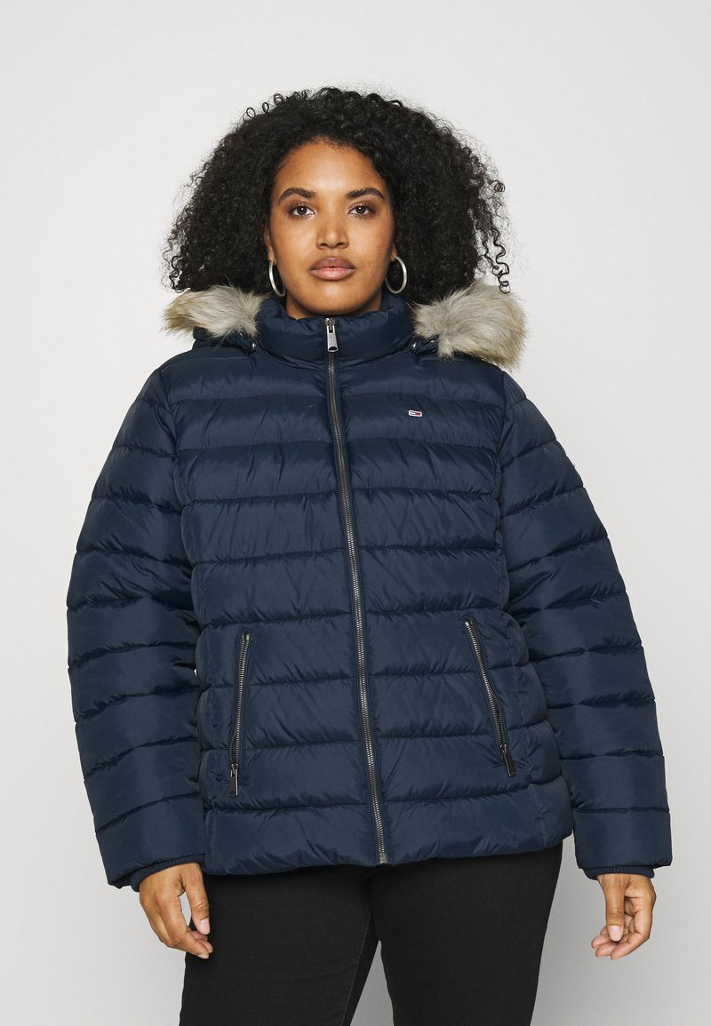 Tommy Jeans Curve - ESSENTIAL HOODED JACKET - Winter jacket - twilight navy