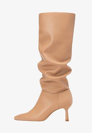 IN KNITTEROPTIK - Vysoká obuv - beige