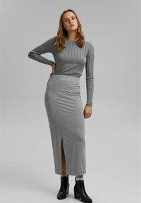 edc by Esprit - ROUND NECK FITTED - Jumper - medium grey - 0