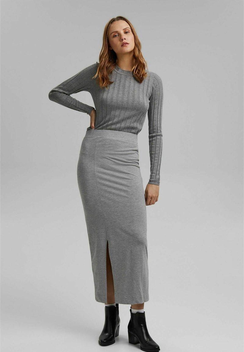 edc by Esprit - ROUND NECK FITTED - Jumper - medium grey
