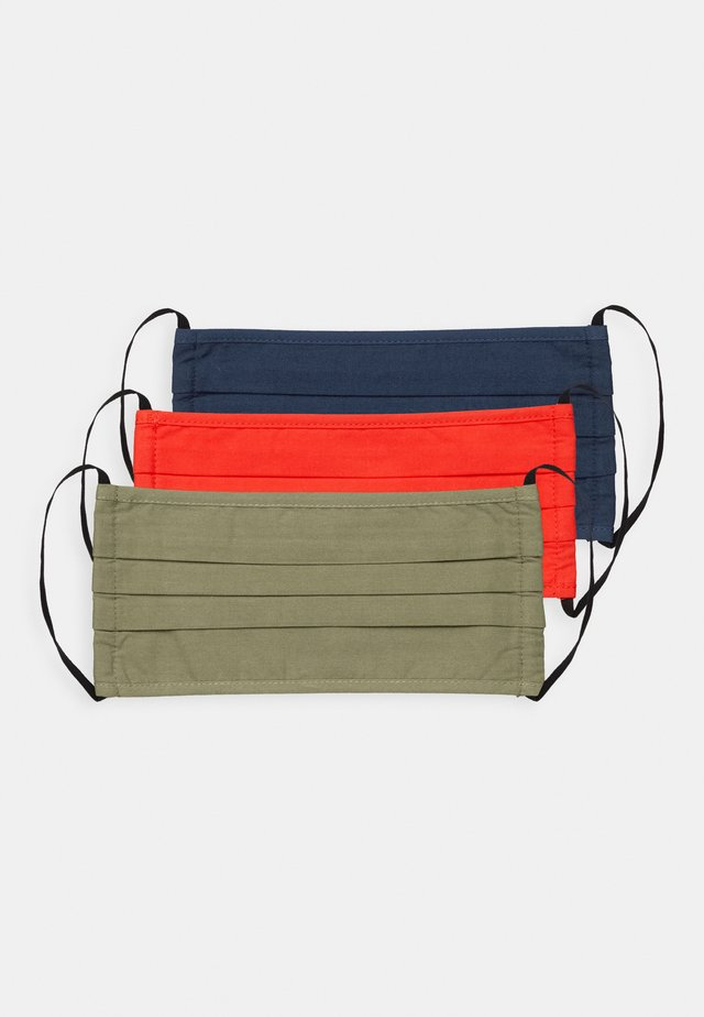 3 PACK - Stofmaske - khaki/dark blue/red