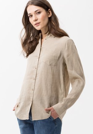 VICTORIA - Button-down blouse - cookie