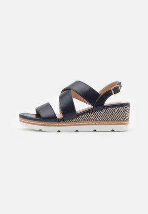 COMFORT - Platform sandals - dark blue