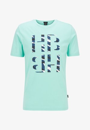 TESSLER - Print T-shirt - open green