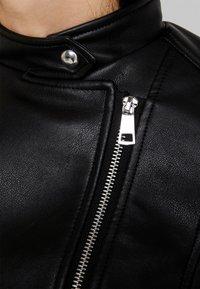 Vero Moda - VMEILEEN SHORT COATED JACKET - Faux leather jacket - black - 6