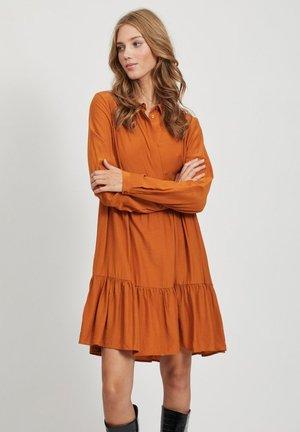 Shirt dress - pumpkin spice