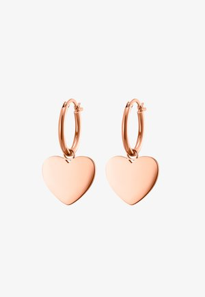 CREOLE CORDIS POLIERT - Earrings - rosegoldfarben
