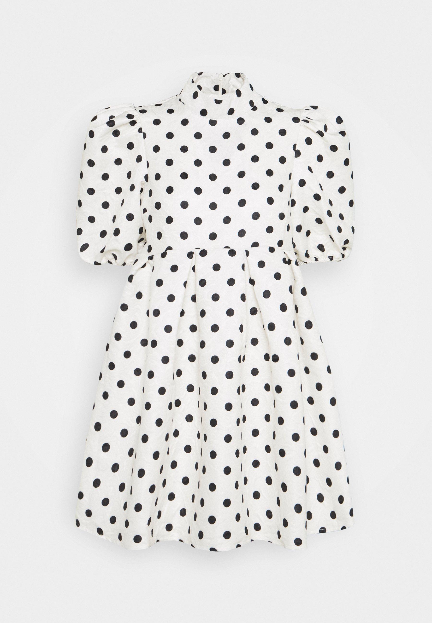 Mujer SPOT PUFF SLEEVE DRESS - Vestido informal