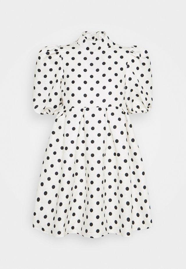 SPOT PUFF SLEEVE DRESS - Sukienka letnia - cream