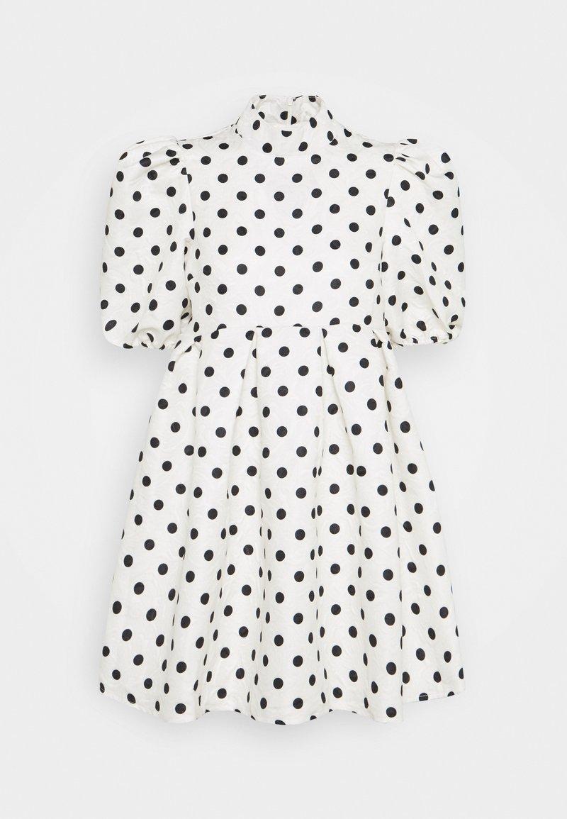 Missguided - SPOT PUFF SLEEVE DRESS - Robe d'été - cream