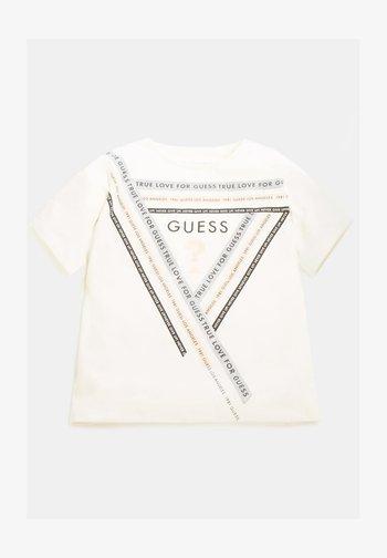 GLITZER-FRONTLOGO - Long sleeved top - mehrfarbig, weiß
