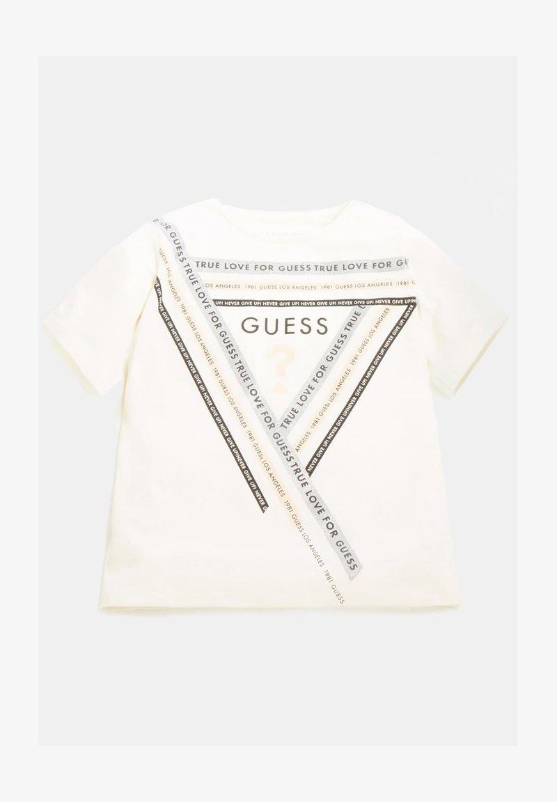 Guess - GLITZER-FRONTLOGO - Langarmshirt - mehrfarbig, weiß