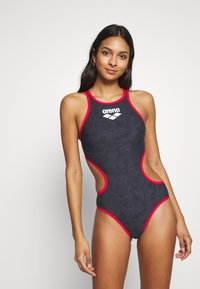 Arena - SAND ONE PIECE - Swimsuit - black/red - 0