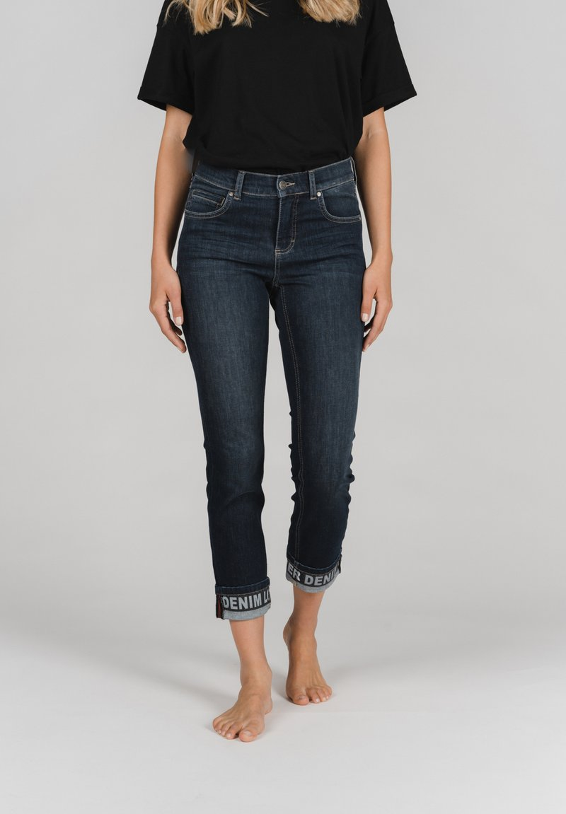 Angels - CICI TAPE' MIT STICKEREI - Slim fit jeans - dunkelblau