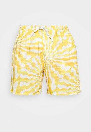 WITH RETRO SUN RAYS PRINT UNISEX - Kraťasy - yellow