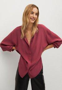 Mango - CEBRA-A - Button-down blouse - maroon - 0