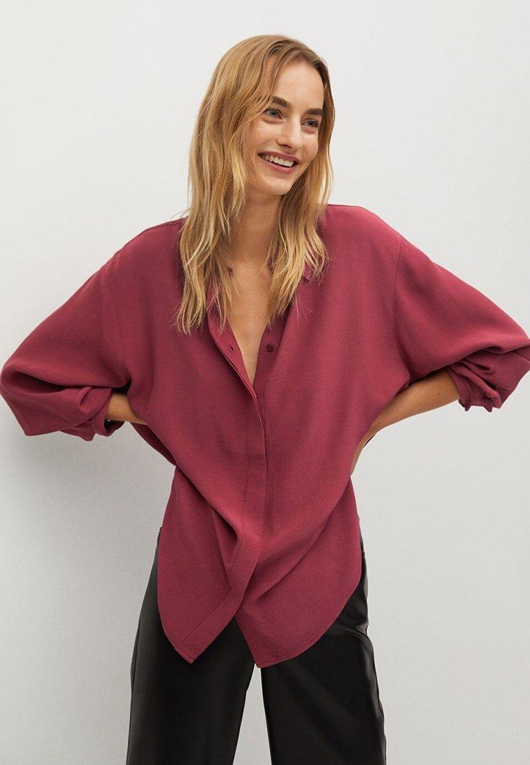 Mango - CEBRA-A - Button-down blouse - maroon
