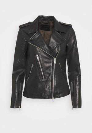 ELVA BIKER - Leather jacket - black